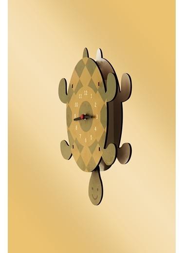 Peoples Clock Kaplumbağa Sallanan Sarkaçlı Çocuk Odası Duvar Saati Renkli